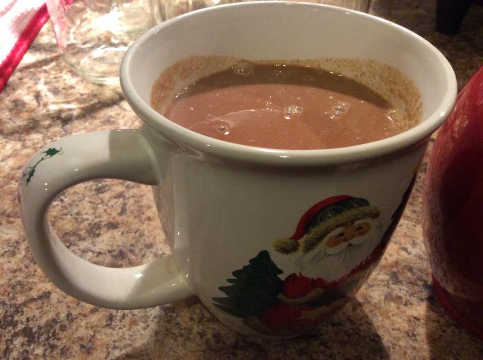santa cup hot choc